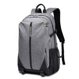 Unisex Business Travel Backpack Women Men 17 Inches Laptop Bag Gray 30L - 35L