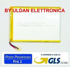 BATTERIA PER TABLET PC 3,7V 2800 mAH - Dimensioni 8,5 cm * 6,7 cm * 0,3 cm