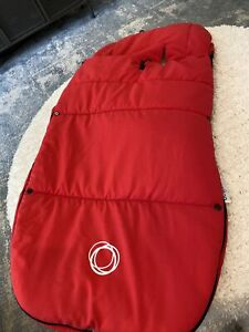 Bugaboo Footmuff CosyToes in Red Very Good Condition