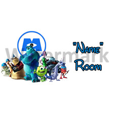 Disney Monsters Inc Personalised Bedroom Door Sign - Any Text (2)