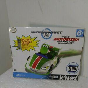 K'nex Yoshi Mario Kart Nintendo Wii Yoshi Motorized Wild Wing Kart Set