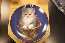 """"""" Kitty cat """" Art On Plate Armstrong purr swayed plate # 533 with original box"""