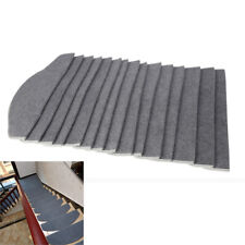24*65cm Home Non-slip Adhesive Carpet Stair Treads Mats Staircase Step Rug Cover