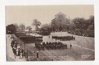 Garrison Church Parade Woolwich London Vintage RP Postcard 198a