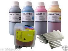 Refillable ink cartridge for Brother LC61 DCP-395CN DCP-585CW DCP-J125 +4X10OZ/S
