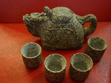Dragon shaped Maifan Stone Teapot and cups