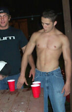 Shirtless Male Frat Boy Athletic Jock  Beer Pong Party PHOTO Pinup 4X6 P820