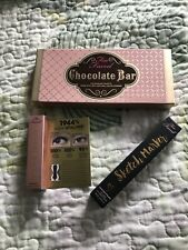 Too Faced Makeup Collection Chocolate Bar Eyeshadow Mascara Eyeliner Authentic