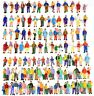 100pcs HO scale 1:87 ALL Standing Passenger People Figures Model Train Layout