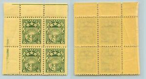 Latvia 1927 SC 141 MNH wmk 212 block of 4 . rtb287