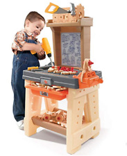 Toy Work Bench For Kids Tots Boys Toddlers Complete Workshop Play Tool Kit 65pc