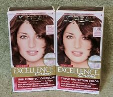 Lot of 2 L'Oreal Paris Excellence Creme Hair Color 5RB Medium Reddish Brown
