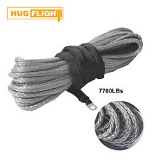 """3/16"""" x 50' Synthetic Winch Rope Cable5700 LBs ATV SUV Recovery Replacement Gray"""