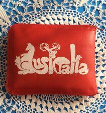 Vintage 1960's 70's Red Australia Carry Bag Tote Coin Purse Combo Souvenir