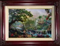 Thomas Kinkade The Jungle Book S/N 24x36 Framed Disney Limited Edition Canvas