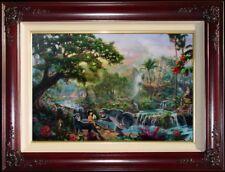 Thomas Kinkade The Jungle Book S/N 24x36 Framed Disney Limited Edition Canvas