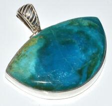 Peruvian Blue Opal 925 Sterling Silver Pendant Jewelry JJ11023