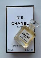 CHANEL No 5 eau de parfum miniature 1,5 ml NEW mini micro bottle BNIB VIP GIFT
