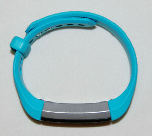 EUC Fitbit Alta Aqua Blue Replacement Wristband & Charger Set size Small