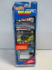 Hot Wheels 5 Car Gift Pack Rad Rigs w cattle truck