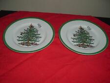 """Spode Christmas Tree Set of 2 Dinner Plates 10 1/2"""""""
