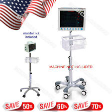 Trolley go-Cart  Bracket Roller Hand Vertical  Stand For Contec Patient Monitor