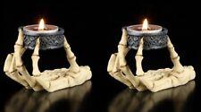 Mano Esqueleto Portavelas SET DE DOS - Candelero Calavera Gótica Decoración