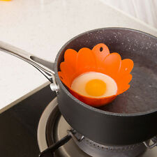 New 1x Flower Silicone Egg Poacher Poaching Pods Pan Cups Mould Kitchen Cookare