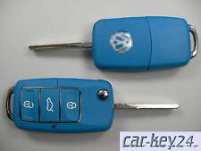 Azul VW Golf IV Cabrio Passat 3B3 Bora Lupo Multivan Polo 3 Taste Llave Plegable