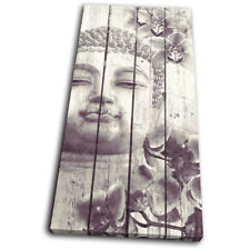 Buddha Vintage Religion SINGLE DOEK WALL ART foto afdrukken