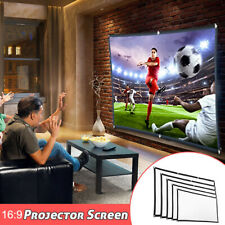 60-120Inch Projector Screen Book Outdoor Home Theater Movie HD Portable Foldable