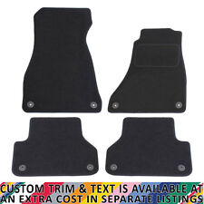 For Audi A4 B9 2016+ Fully Tailored 4 Piece Car Mat Set 8 Clips