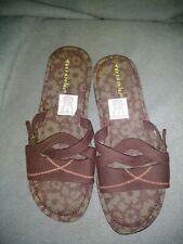 TERRASOLES 8 M Brown Fabric Sandals  Comfort Shoes
