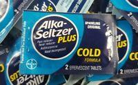 Alka Seltzer Plus Cold Sparkling Original Pain Relief 50 Packets- Bulk Exp 8/21+