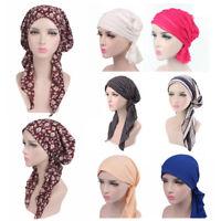 Ladies Bandana Head Scarf Turban Pre-Tied Headwear Chemo Hat Tichel for Cancer