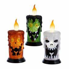 """Pumpkin Ghost Monster Halloween Light Candle Set 3 Decor LED Window Wall 5"""""""
