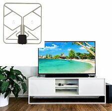 60 Mile Long Range SEE-THRU Slim Digital Amplified HD TV Antenna Signal VHF UHF