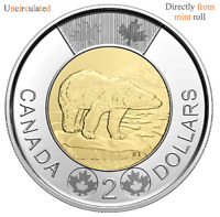 CANADA 2020 New $2 Toonie ORIGINAL POLAR BEAR (UNC directly From mint roll)