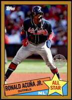 Ronald Acuna Jr. 2020 Topps 1985 35th Anniversary All-Stars 5x7 Gold #85AS-39 /1