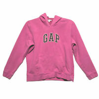 Gap Stretch Pullover Hoodie Womens Size L Large Pink Purple Long Sleeve