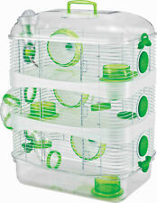Acrylic 3-Solid Levels Dwarf Hamster Rodent Gerbil Mice Mouse Home Habitat Cage