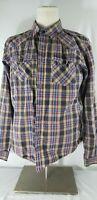Mens Patagonia Plaid Organic Cotton  button-down l/s shirt Large