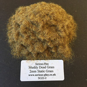 Serious-Play Muddy Dead Static Grass 2mm -Model Scenery Warhammer Wargame brown