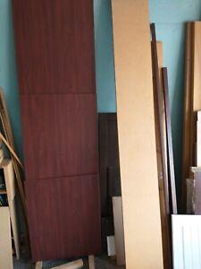 Conti Board Formica Laminate Wood Boards job lot Deep Mahogany Red Wood tone
