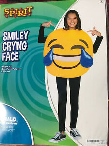 Halloween Spirit Smiley Crying Face Costume Ages 4 Year Plus, One Size Fits Most