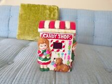 Vtg Christmas Village Candy Shop