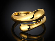 Gold Plated Fashion Wedding Party lady Cute women drop open Rings Jewelry