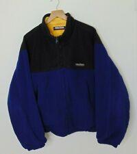 VTG Nautica Competition Men L Color Block Fleece Jacket Blue Black Outerwear