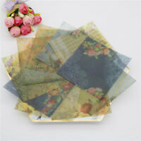 10pcs vintage flowers vellum paper stickers for scrapbooking card makingA_DD