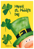"""NEW Happy St. Paddy's Day House Flag 28""""X40"""" St. Patrick's Day Decorative Flag"""